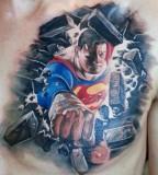 Superhero tattoo by Miroslav Pridal