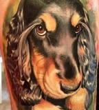 Sweet dog tattoo by Matteo Pasqualin