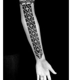Traditional Melanesian Blackwork Tattoo