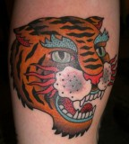 Traditional tiger tattoo