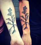 Trees tattoo by Philippe Fernandez