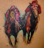 Two horses tattoos