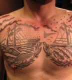 USA ships tattoo by Duke Riley