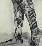 Vintage traditional tattoos