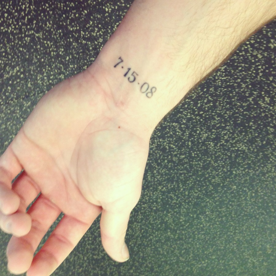 Wedding numbers tattoo