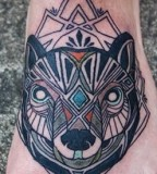 Wolf tattoo by David Hale