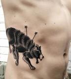 Wolf tattoo by Philippe Fernandez