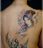 Woman tattoo by Dimon Taturin