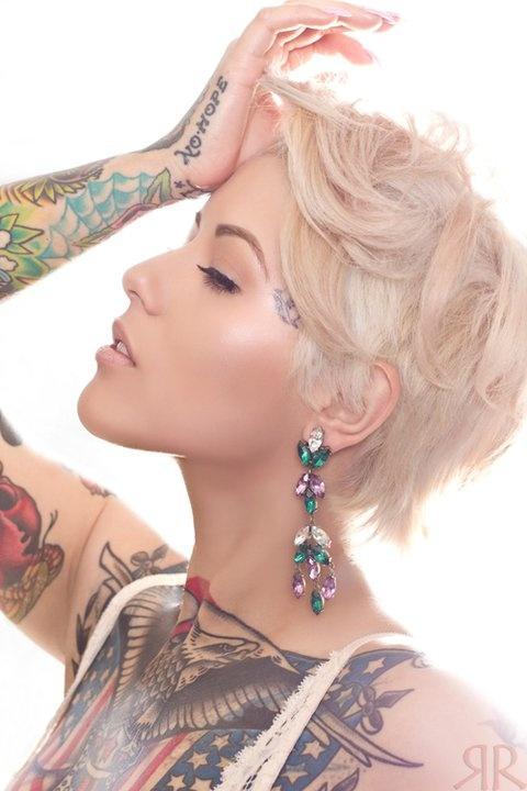 Women eagle tattoo