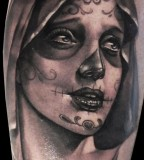 Women tattoo by Matteo Pasqualin
