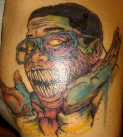 Zombie Jaleel White tattoo