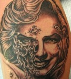 Zombie Marilyn Monroe tattoo