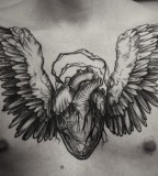 alex tabuns winged heart chest tattoo