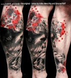 buena vista tattoo club memento mori leg sleeve