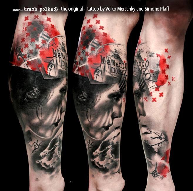 buena vista tattoo club memento mori leg sleeve