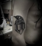 crystal tattoo and bird