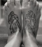 crystal tattoo feet piece