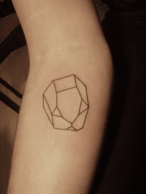 crystal tattoo minimalist work