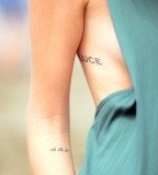 cute words tattoo