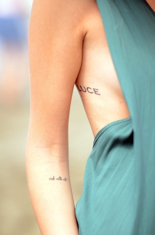 cute words tattoo