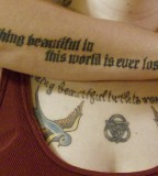 double words tattoo