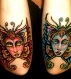 elbow tattoo butterflies