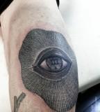 elbow tattoo eye