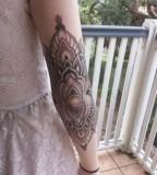 elbow tattoo ornamental work