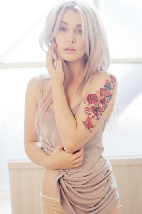 elegant floral arm sleeve
