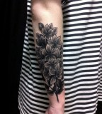 floral arm sleeve blackwork