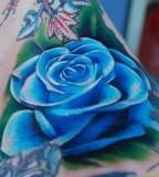 flower tattoo blue rose
