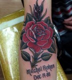 flower tattoo for michael