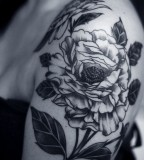 flower tattoos black and white design