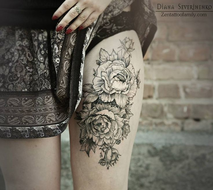 flower tattoos black stylish ink