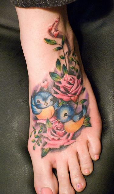 flower tattoos vintage feel