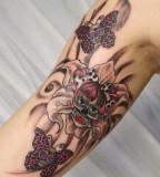 funny skull tattoo