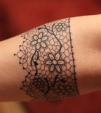girly tattoo lace arm band