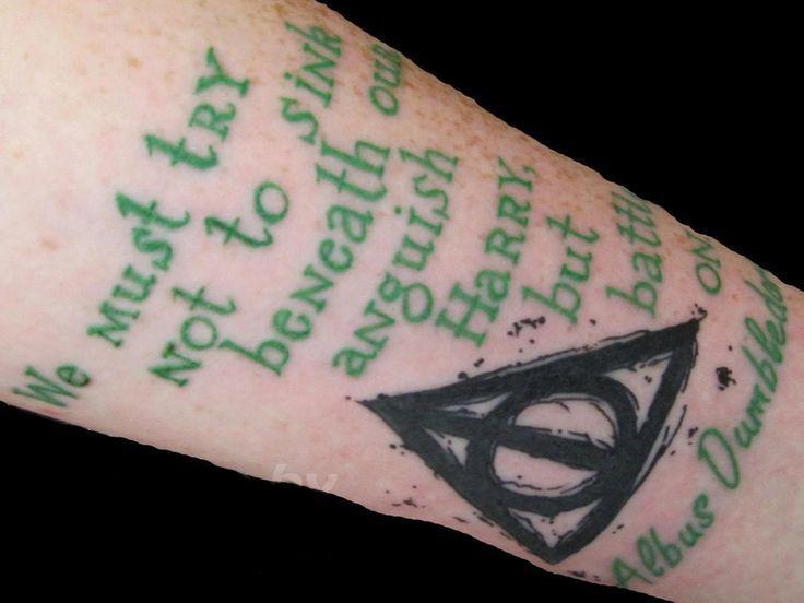 green tattoo albus dumbledore quote