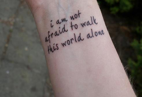 inspiring words tattoo