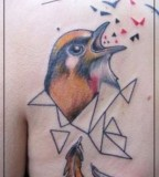 jessica mach tattoo bird on back shoulder