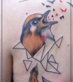 jessica mach tattoo bird on back shoulder