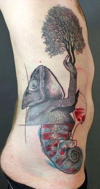 jessica mach tattoo chameleon