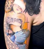 jessica mach tattoo girl with eye cover