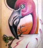jessica mach tattoo pink flamingo