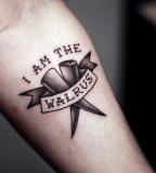 kamil czapiga tattoo I am the walrus