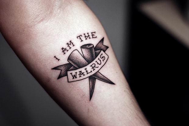 kamil czapiga tattoo I am the walrus