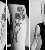kamil czapiga tattoo flowers on inside arm