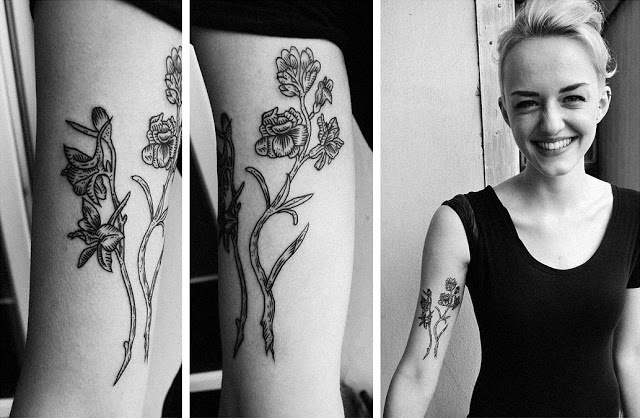 kamil czapiga tattoo flowers on inside arm