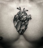 kamil czapiga tattoo geometric heart on chest