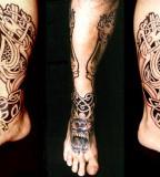 legs tattoo by Dimon Taturin